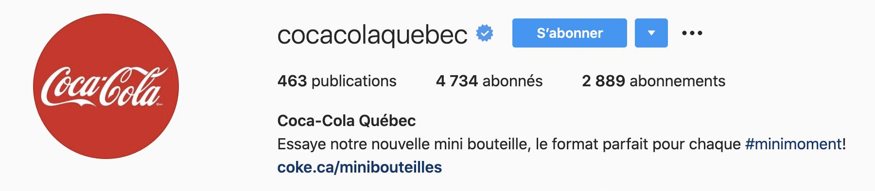 coca cola example hashtag